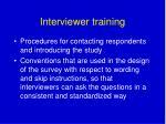 interviewer training