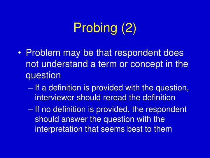 Probing (2)
