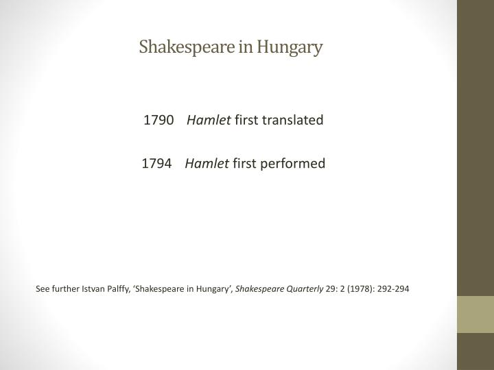 Shakespeare in Hungary