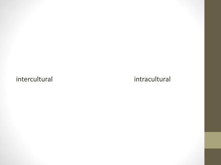 intracultural