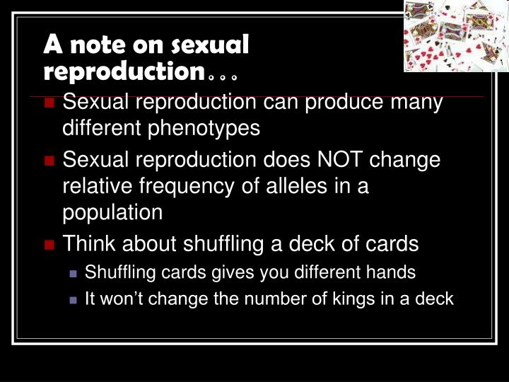 A note on sexual reproduction