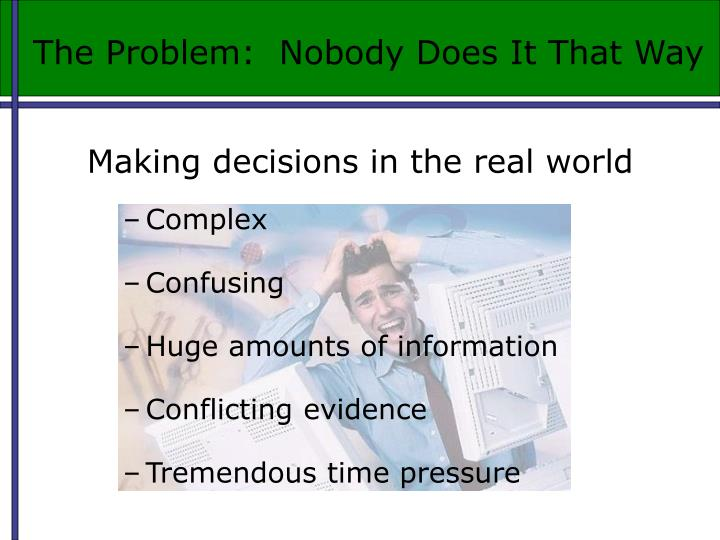 The Problem:  Nobody Does It That Way