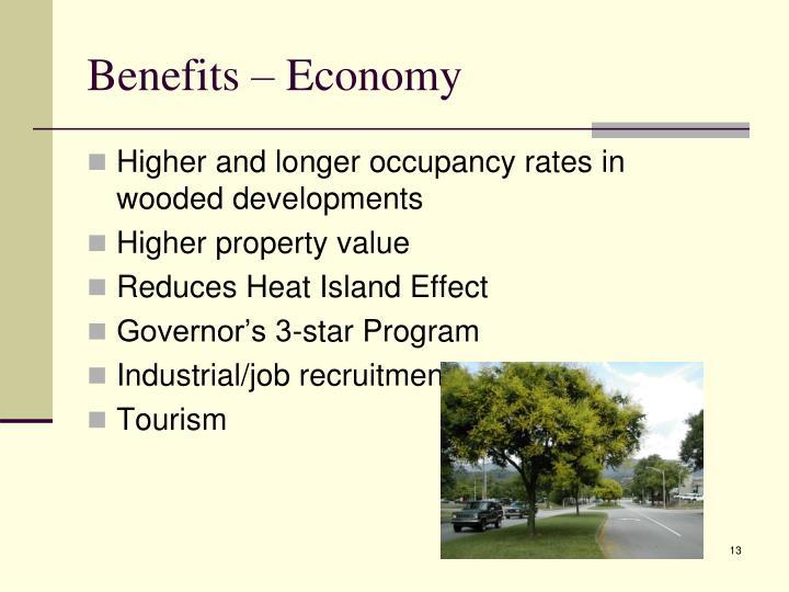 Benefits – Economy