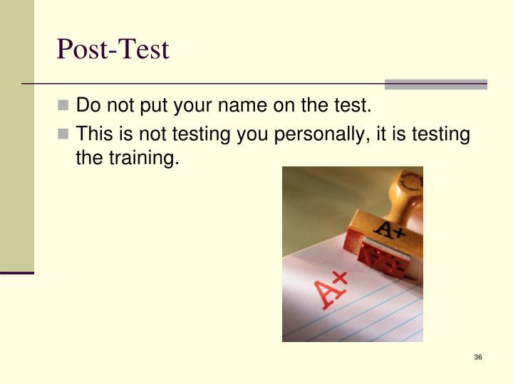 Post-Test