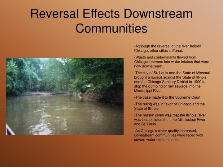 Reversal Effects Downstream Communities