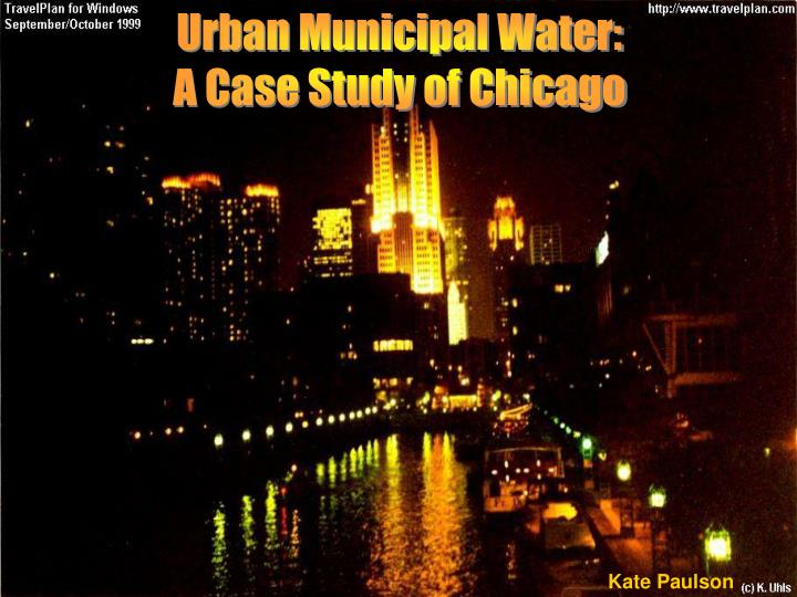 Urban Municipal Water: