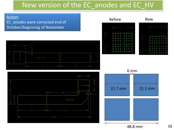 New version of the EC_anodes and EC_HV