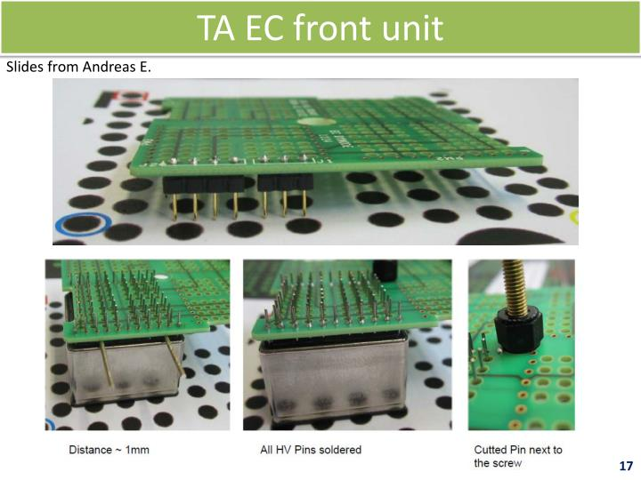 TA EC front unit