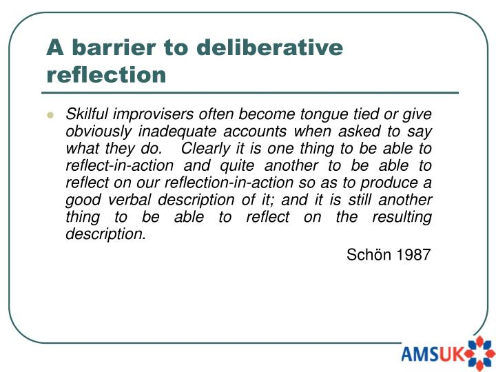 A barrier to deliberative reflection