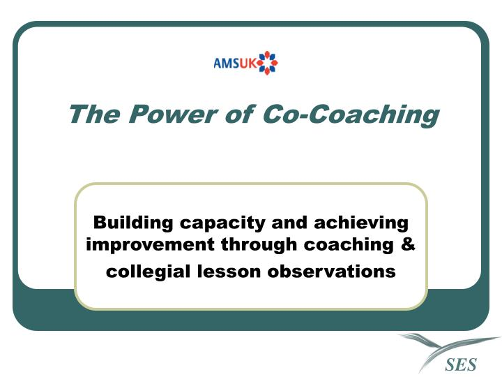 The power of co coaching