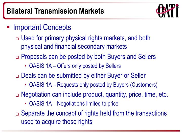 Bilateral Transmission Markets