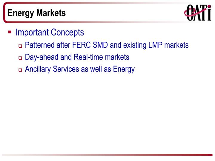 Energy Markets
