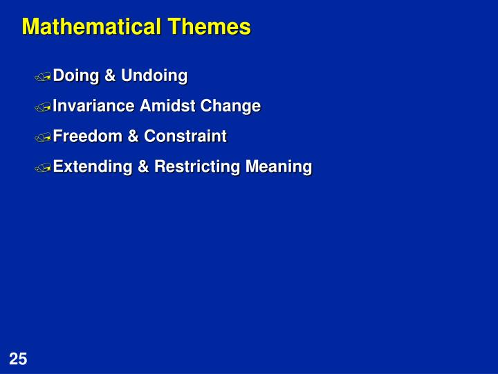 Mathematical Themes