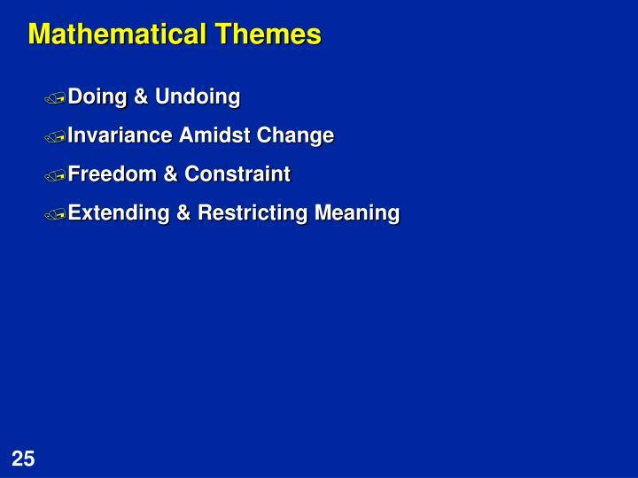 Mathematical Themes