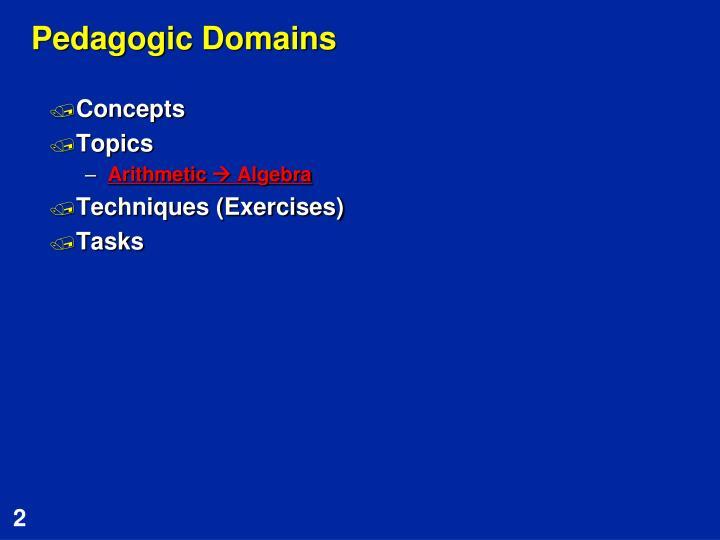Pedagogic Domains