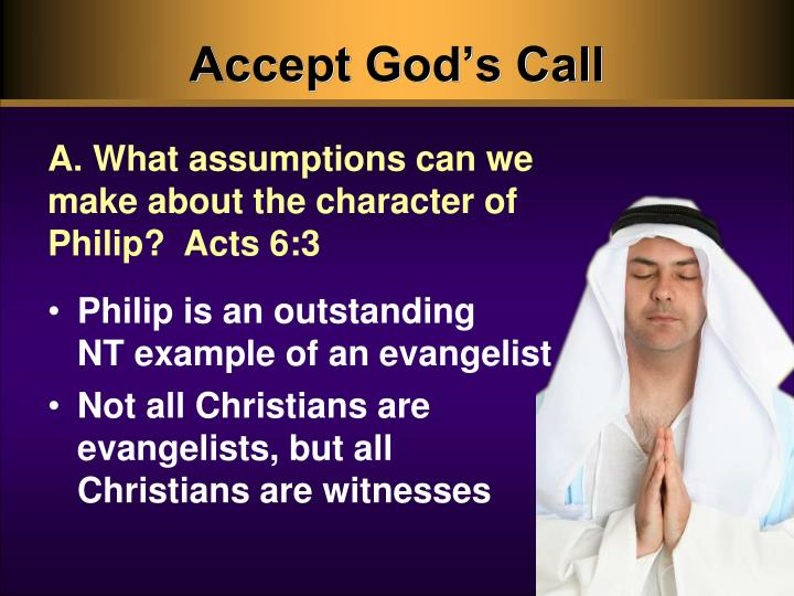 Accept God's Call