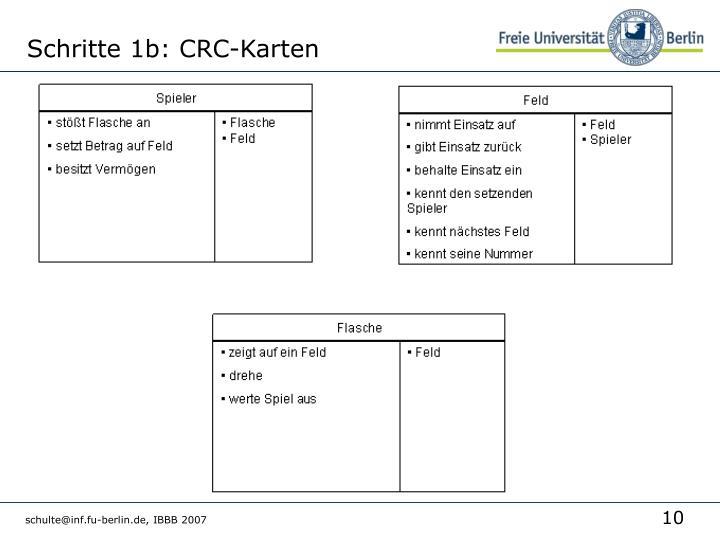 Schritte 1b: CRC-Karten