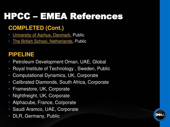 HPCC – EMEA