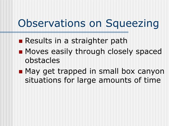 Observations on Squeezing