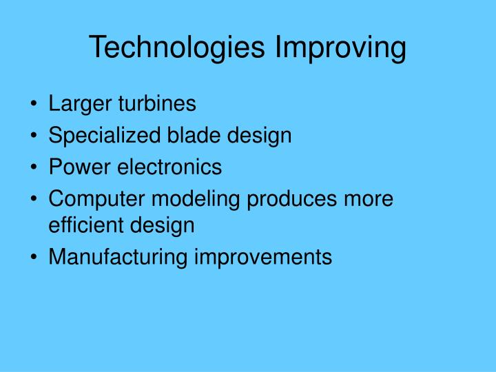 Technologies Improving