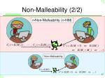 non malleability 2 2