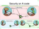 security on a code