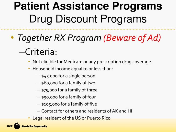 Patient Assistance Programs
