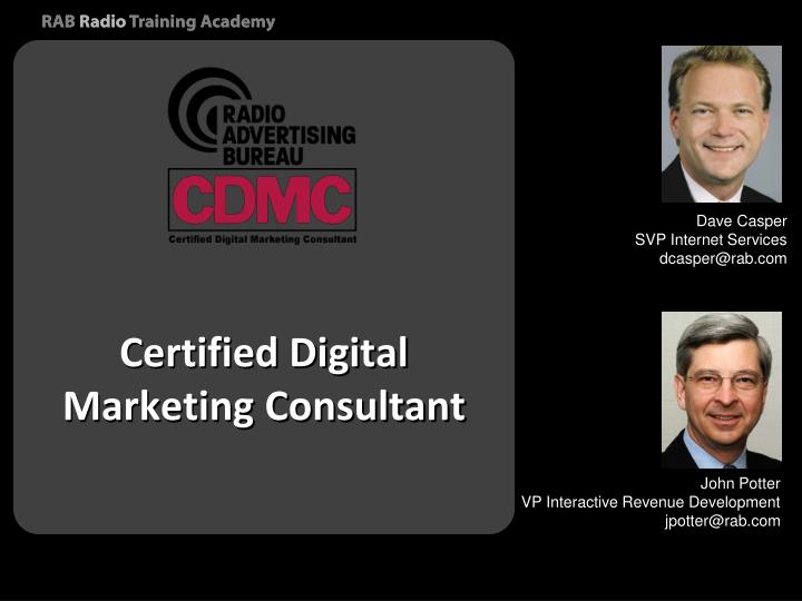 Certified Digital Marketing Consultant