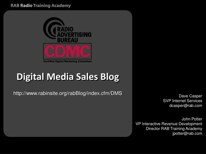 Digital Media Sales Blog