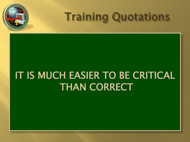 Training quotations2