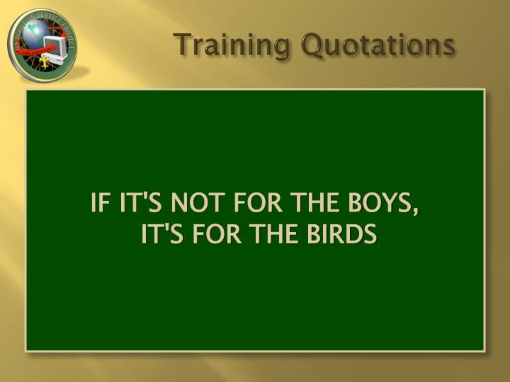 Training Quotations