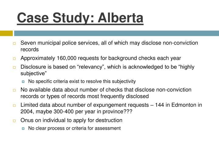 Case Study: Alberta