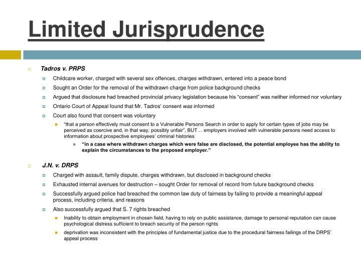 Limited Jurisprudence