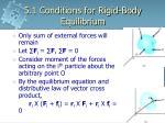 5 1 conditions for rigid body equilibrium3