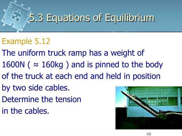 5.3 Equations of Equilibrium