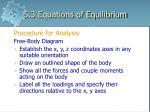 5 3 equations of equilibrium5