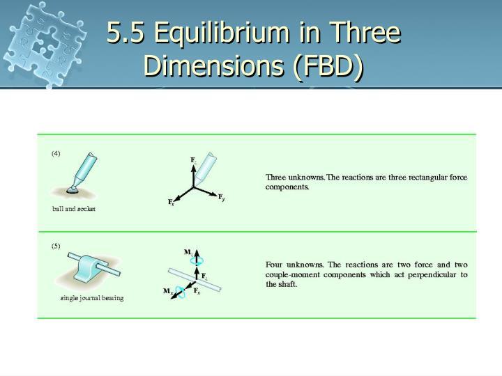 5.5 Equilibrium in Three Dimensions (FBD)