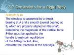 5 7 constraints for a rigid body17