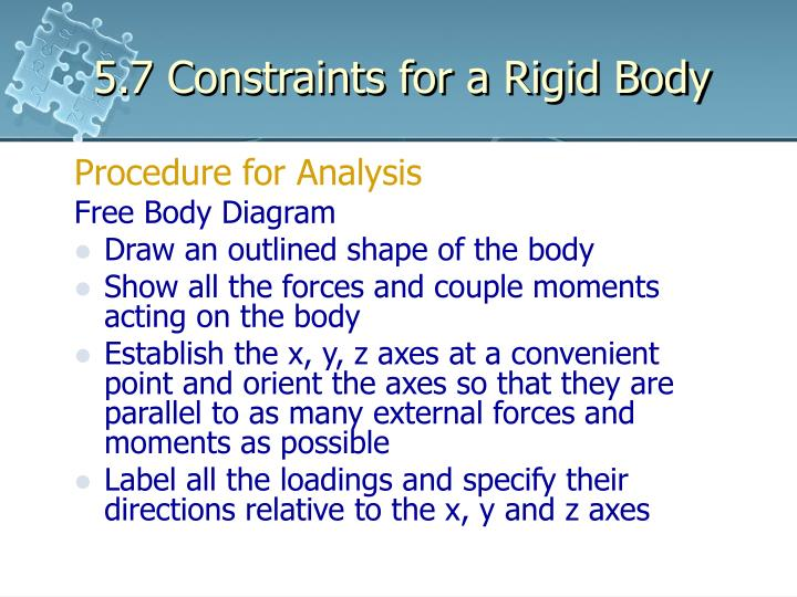 5.7 Constraints for a Rigid Body