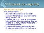 5 7 constraints for a rigid body8