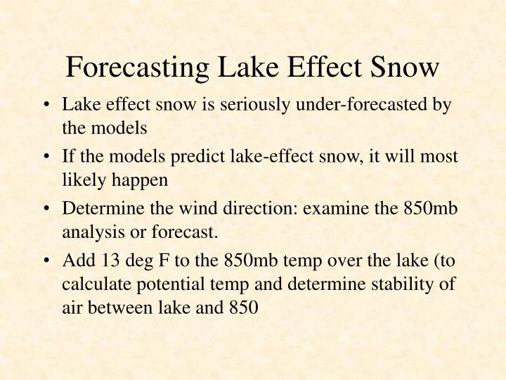 Forecasting Lake Effect Snow