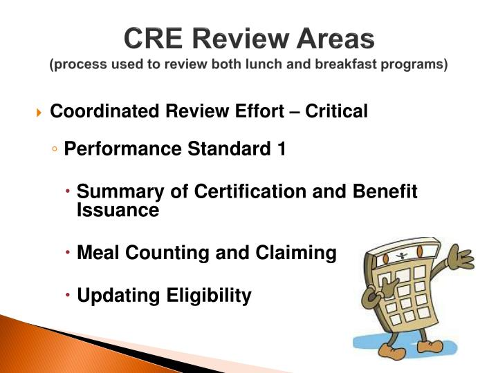 CRE Review Areas
