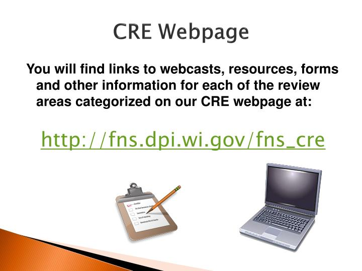 CRE Webpage
