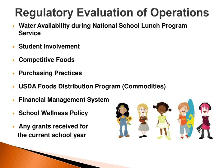 Regulatory Evaluation of Operations