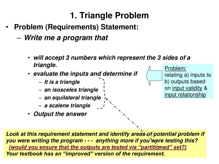 1. Triangle Problem