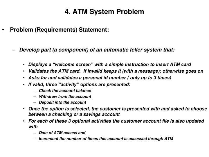 4. ATM System Problem