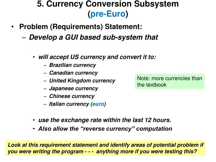 5. Currency Conversion Subsystem