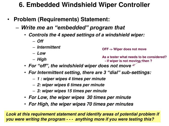 6. Embedded Windshield Wiper Controller