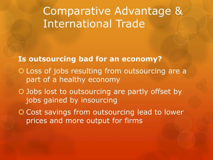 Comparative Advantage & International Trade