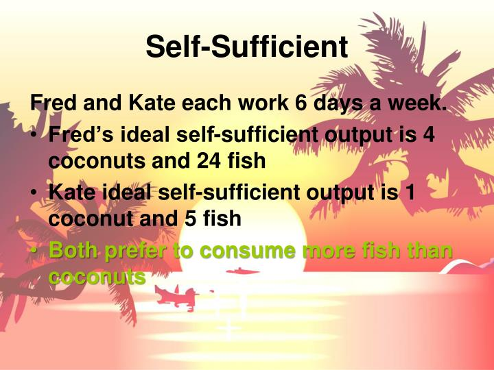 Self-Sufficient